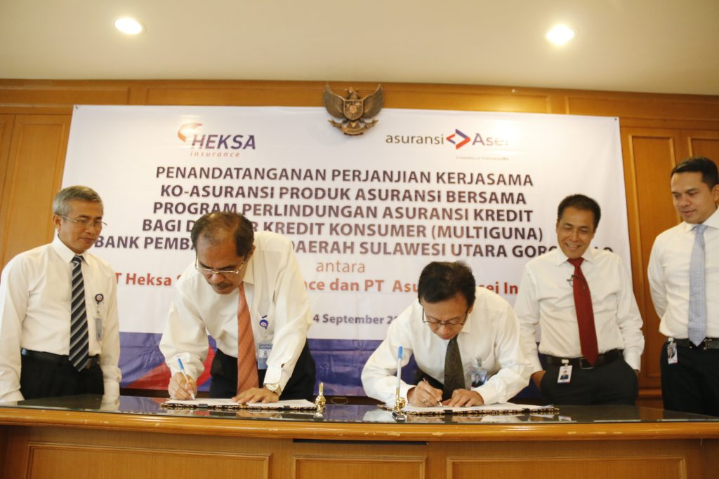 Asuransi Asei dampingi Heksa Insurance back-up BPD SulutGo