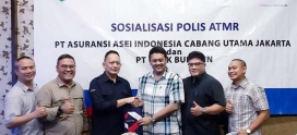 Asei Cabang Utama Jakarta dan Bank Bukopin lakukan Sosialisasi Polis ATMR