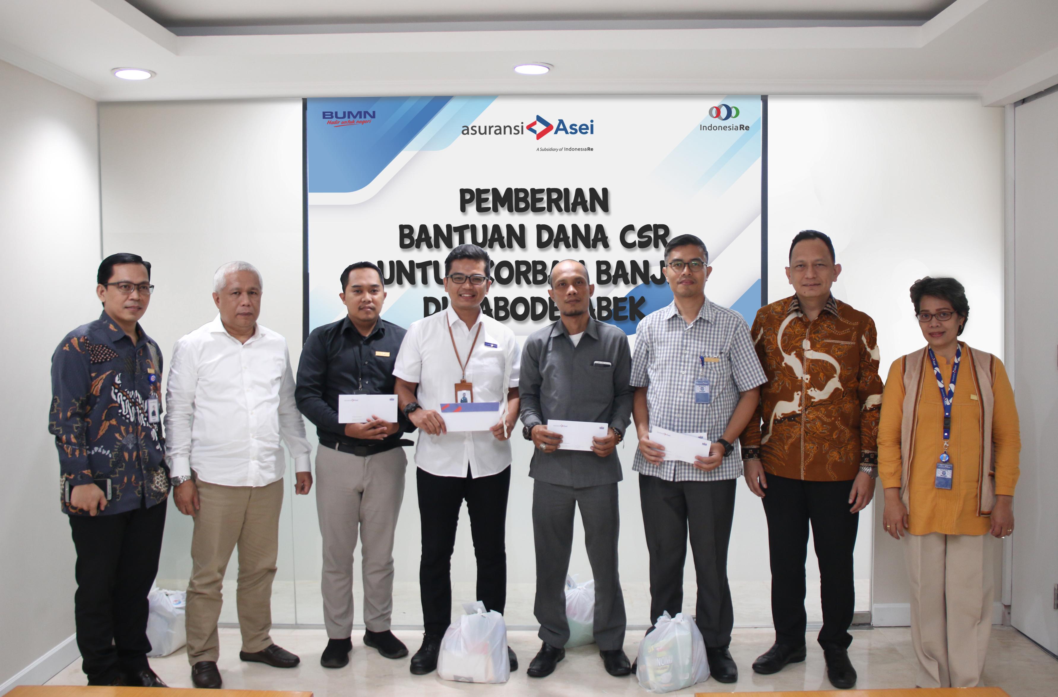 CSR Asuransi Asei, Bantuan Peduli Korban Banjir